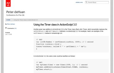 http://blogs.adobe.com/pdehaan/2006/07/using_the_timer_class_in_actio.html