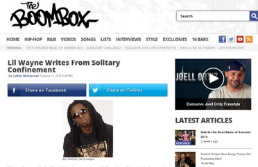 http://www.theboombox.com/2010/10/13/lil-wayne-writes-from-solitary-confinement/