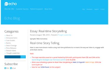 http://blog.aboutecho.com/2010/08/18/essay-real-time-storytelling/