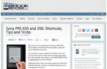 http://blog.the-ebook-reader.com/2010/10/18/sony-prs-650-and-350-shortcuts-tips-and-tricks/