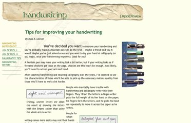 http://paperpenalia.com/handwriting.html