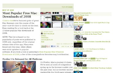 http://lifehacker.com/5111727/most-popular-free-mac-downloads-of-2008
