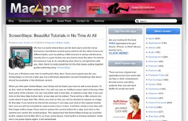http://macapper.com/2008/11/25/rdy-screensteps-beautiful-tutorials-in-no-time-at-all/