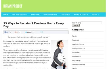 http://ririanproject.com/2007/10/12/15-ways-to-reclaim-2-precious-hours-every-day/