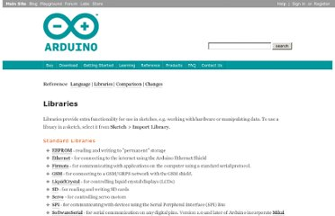 http://www.arduino.cc/en/Reference/Libraries