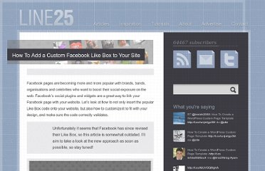 http://line25.com/tutorials/how-to-add-a-custom-facebook-like-box-to-your-site
