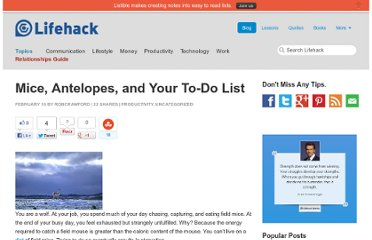 http://www.lifehack.org/articles/lifehack/mice-antelopes-and-your-to-do-list.html