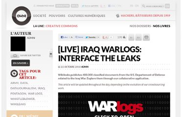 http://owni.fr/2010/10/22/wikileaks-warlogs-iraq-app-interface-leak-visualization/