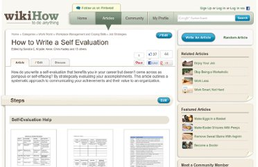 http://www.wikihow.com/Write-a-Self-Evaluation