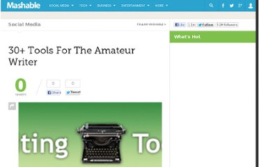 http://mashable.com/2007/10/25/30-tools-amateur-writer/