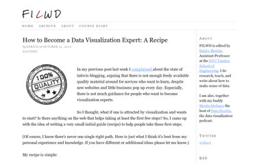 http://fellinlovewithdata.com/guides/how-to-become-a-data-visualization-expert-a-recipe