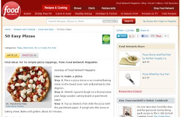 http://www.foodnetwork.com/recipes-and-cooking/50-easy-pizzas/index.html