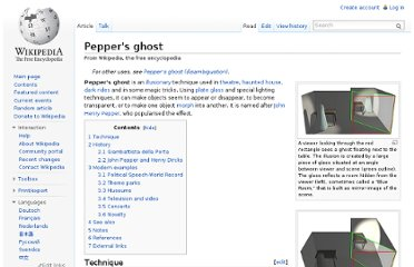 http://en.wikipedia.org/wiki/Pepper%27s_ghost