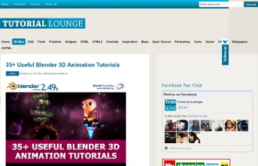 http://www.tutoriallounge.com/2009/11/35-useful-blender-3d-animation-tutorials/