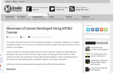 http://blog.insicdesigns.com/2010/09/showcase-of-games-developed-using-html5-canvas/