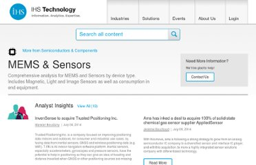 http://www.isuppli.com/MEMS-and-Sensors/Pages/Headlines.aspx