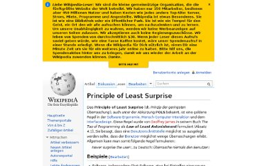 http://de.wikipedia.org/wiki/Principle_of_Least_Surprise