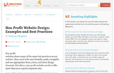 http://www.smashingmagazine.com/2009/05/14/non-profit-website-design-examples-and-best-practices/