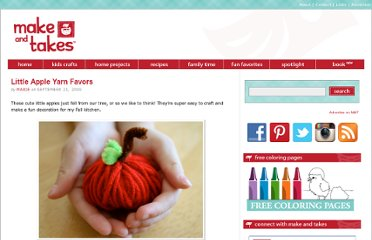 http://www.makeandtakes.com/little-apple-yarn-favors