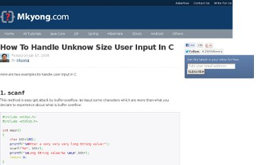 http://www.mkyong.com/c/how-to-handle-unknow-size-user-input-in-c/