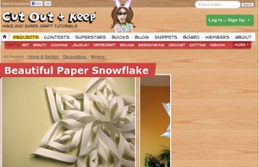http://www.cutoutandkeep.net/projects/beautiful_paper_snowflake