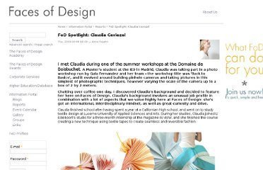 http://facesofdesign.com/report/fod-spotlight-claudia-caviezel
