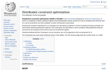 http://en.wikipedia.org/wiki/Distributed_constraint_optimization