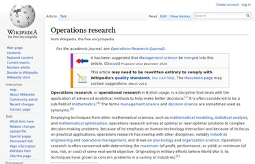 http://en.wikipedia.org/wiki/Operations_research