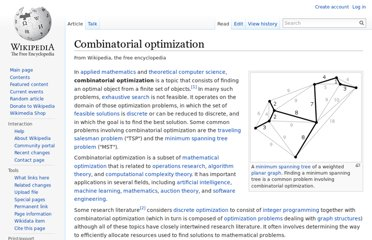 http://en.wikipedia.org/wiki/Combinatorial_optimization