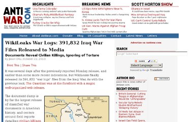 http://news.antiwar.com/2010/10/22/wikileaks-war-logs-391832-iraq-war-files-released-to-media/