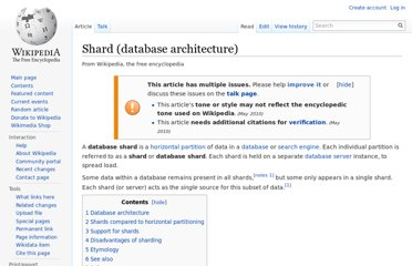 http://en.wikipedia.org/wiki/Shard_(database_architecture)