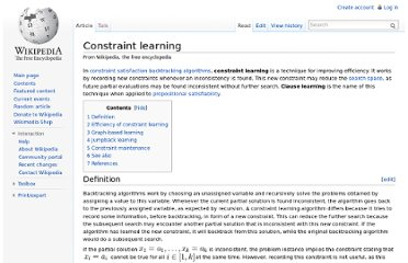 http://en.wikipedia.org/wiki/Constraint_learning