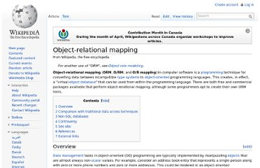 http://en.wikipedia.org/wiki/Object-relational_mapping