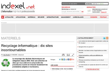 http://www.indexel.net/materiels/recyclage-informatique-dix-sites-incontournables.html
