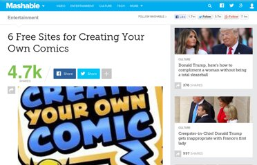 http://mashable.com/2010/10/24/create-your-own-comics/