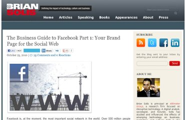 http://www.briansolis.com/2010/10/the-business-case-for-facebook-your-homepage-for-the-social-web/