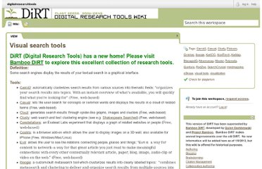 http://digitalresearchtools.pbworks.com/Visual-search-tools