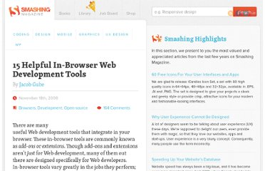 http://www.smashingmagazine.com/2008/11/18/15-helpful-in-browser-web-development-tools/