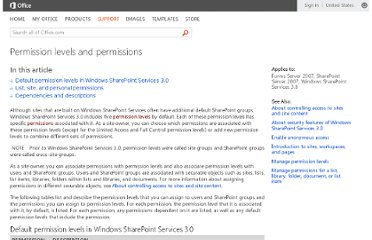 http://office.microsoft.com/en-us/windows-sharepoint-services-help/permission-levels-and-permissions-HA010100149.aspx