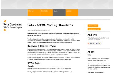 http://www.petegoodman.com/labs/html-coding-standards/
