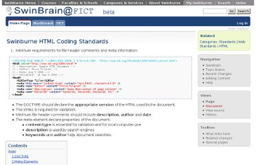 http://swinbrain.ict.swin.edu.au/wiki/Swinburne_HTML_Coding_Standards