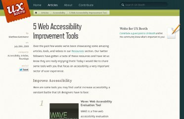 http://www.uxbooth.com/blog/5-tools-to-increase-accessibility/