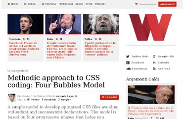 http://woorkup.com/2009/10/09/a-methodic-approach-to-css-coding-four-bubbles-model/