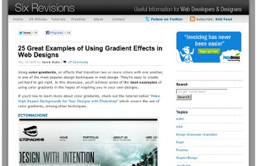 http://sixrevisions.com/design-showcase-inspiration/25-great-examples-of-using-gradient-effects-in-web-designs/