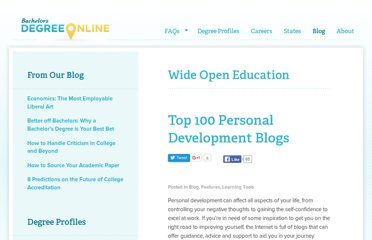 http://www.bachelorsdegreeonline.com/blog/2009/top-100-personal-development-blogs/