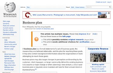 http://en.wikipedia.org/wiki/Content_of_a_business_plan