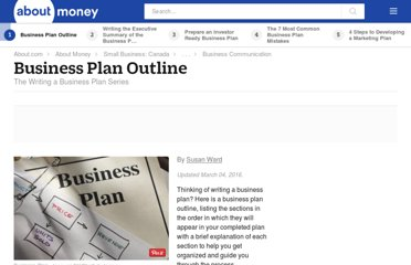 http://sbinfocanada.about.com/cs/businessplans/a/bizplanoutline.htm