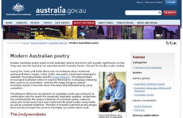 http://www.cultureandrecreation.gov.au/articles/poetry/