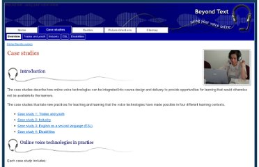 http://btresource.flexiblelearning.net.au/beyond_text_resources/bt/casestudies/index.htm