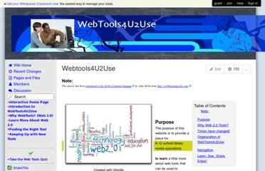 http://webtools4u2use.wikispaces.com/Webtools4U2Use
